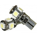 2 x T10 Led Canbus xenon wit Type F (5 SMD)