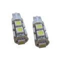 2 x T10 Led Canbus xenon wit Type K (9 SMD)