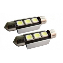 2 x C5W 36mm Led Canbus xenon wit Type M (3 SMD)