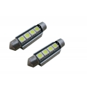 2 x Festoon 41 mm Led Canbus xenon wit Type N (4 SMD)