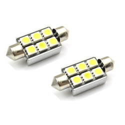 2 x Festoon C5W 39mm Led Canbus xenon wit Type O (6 SMD)
