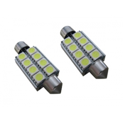 2 x Festoon C5W 41 mm Led Canbus xenon wit Type Q (8 SMD)