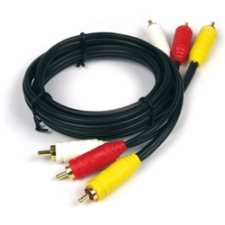 Speciale 75 kabel - 1x video 1x stereo RCA - 500 cm