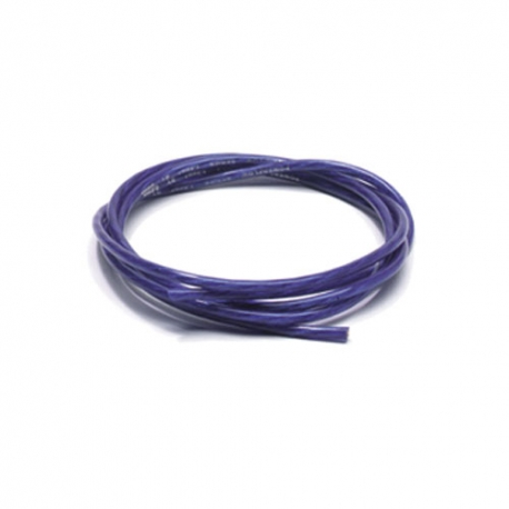 1.5mm2 - 250 meter - sanded frosted blauw - OFC - opbouw 27x7x0.10mm
