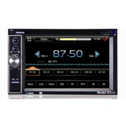 Jeep Commander 2007 --> (zwart) Full HD 2DIN Europa navigatie radio incl DVD en Bluetooth