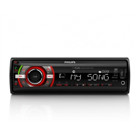 PHILIPS CE152 CAR RADIO voor iPod, iPhone, USB/SDHC, Bluetooth