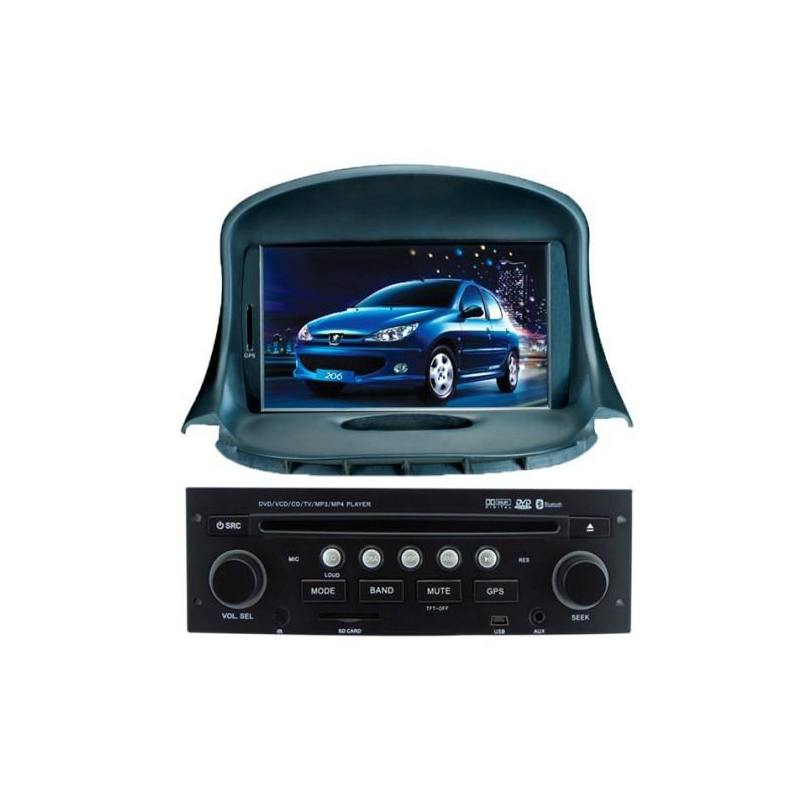peugeot 206 autoradio navigatie full europa incl hd scherm navaudio. Black Bedroom Furniture Sets. Home Design Ideas
