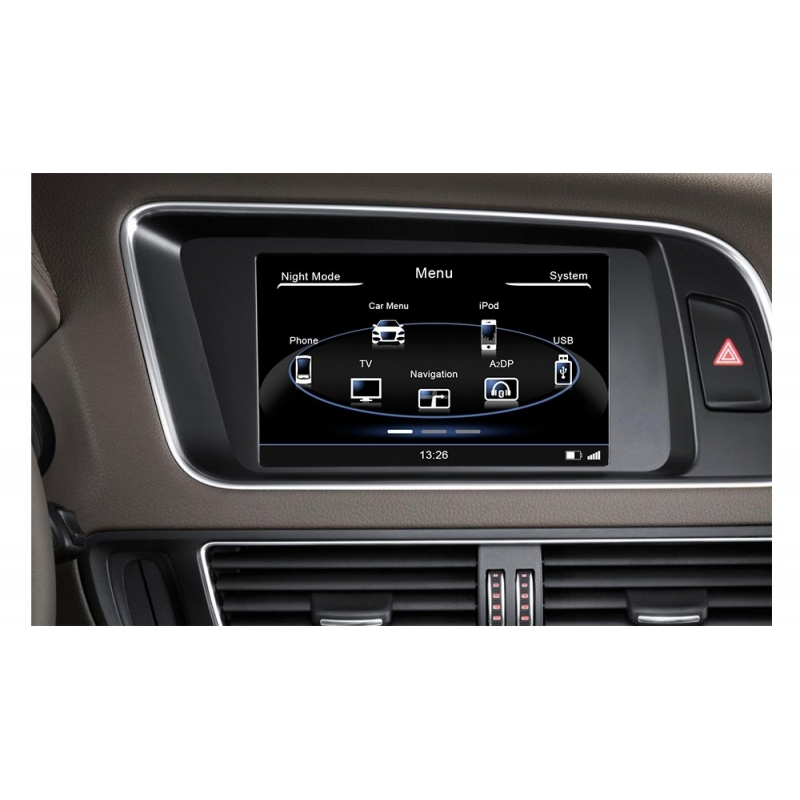 audi a4 2008 2014 n7 navigatie autoradio met parrot en tmc. Black Bedroom Furniture Sets. Home Design Ideas