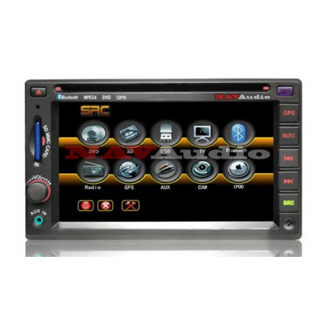 2 DIN 6.2 inch Autoradio met Bluetooth, DVD, CD, SD, USB