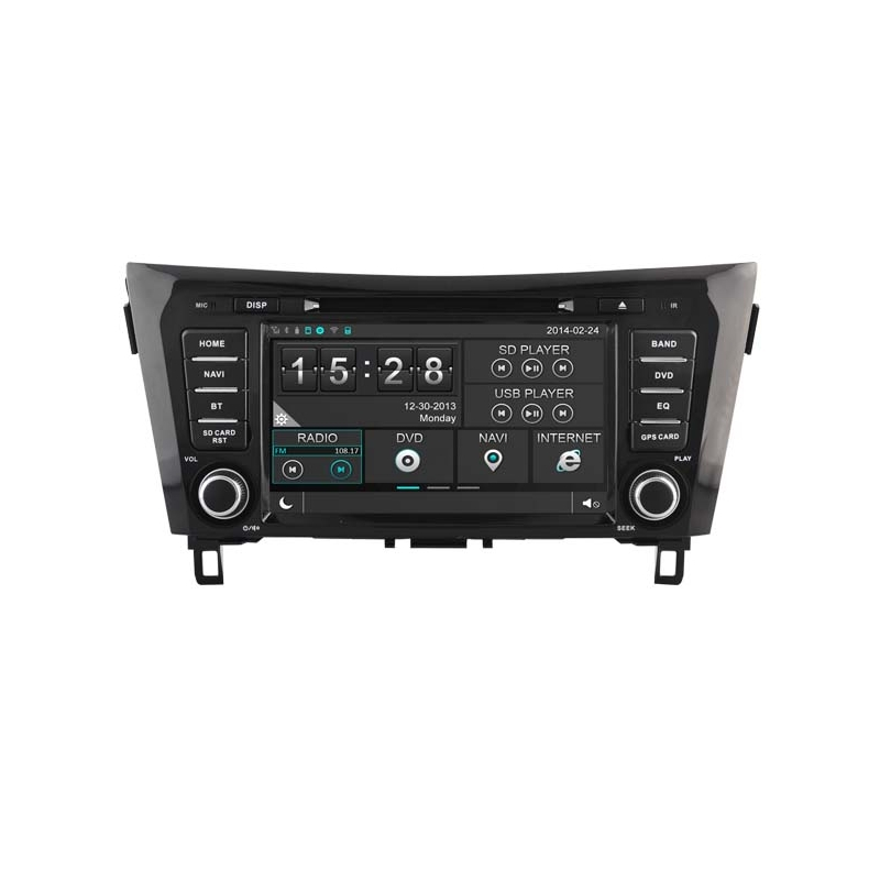 nissan qashqai 2014 en later autoradio navigatie full europa incl hd scherm navaudio. Black Bedroom Furniture Sets. Home Design Ideas