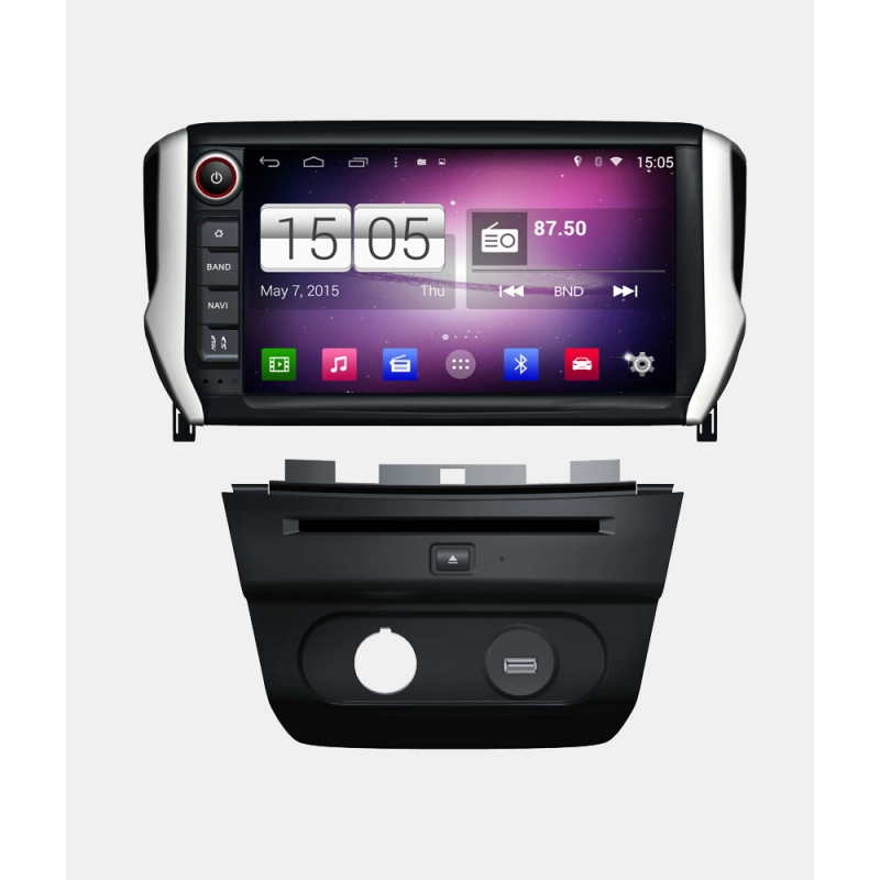 peugeot 208 android autoradio navigatie full europa incl hd scherm. Black Bedroom Furniture Sets. Home Design Ideas