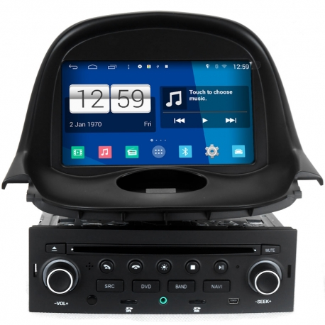 peugeot 206 1998 2009 android autoradio navigatie full europa incl hd scherm navaudio. Black Bedroom Furniture Sets. Home Design Ideas