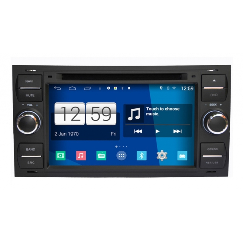 ford fiesta 2005 2012 android autoradio navigatie full. Black Bedroom Furniture Sets. Home Design Ideas