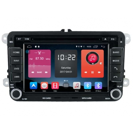 volkswagen golf 8 inch android autoradio navigatie full europa incl hd. Black Bedroom Furniture Sets. Home Design Ideas