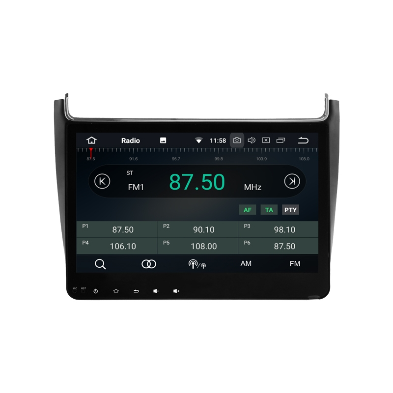 volkswagen polo 6c6r android autoradio navigatie full. Black Bedroom Furniture Sets. Home Design Ideas