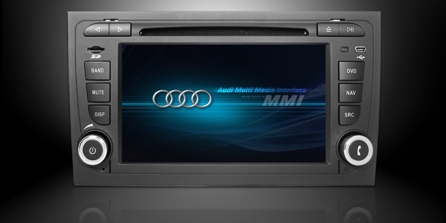 audi a4 autoradio met europa navigatie dvb t navaudio. Black Bedroom Furniture Sets. Home Design Ideas