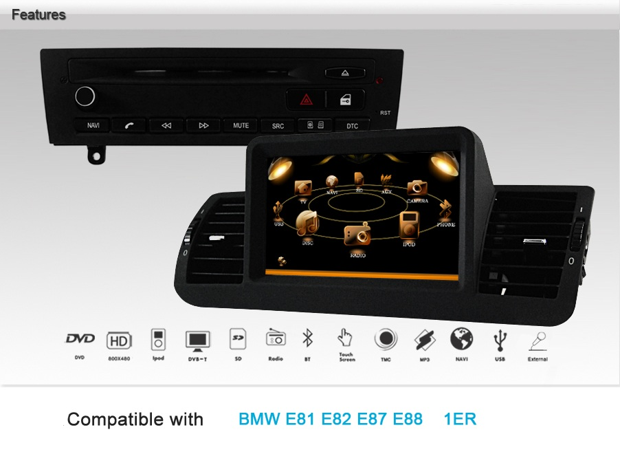 bmw 1 serie navigatie autoradio systeem dvd bluetooth rds navaudio. Black Bedroom Furniture Sets. Home Design Ideas